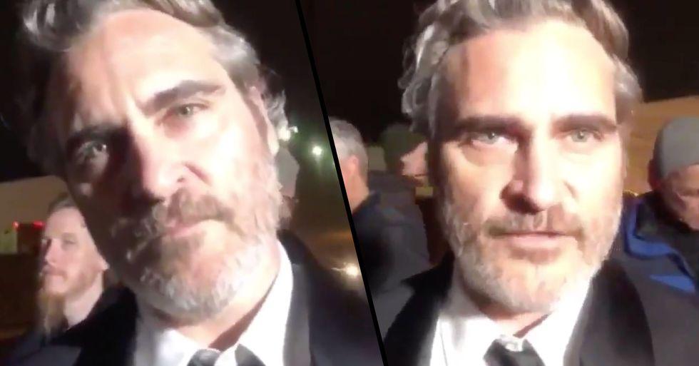 Joaquin Phoenix Visits Slaughterhouse Immediately After Winning SAG Award