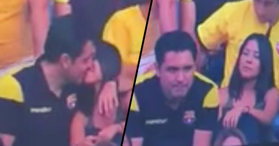 Man Caught Cheating After Being Exposed on Kiss Cam
