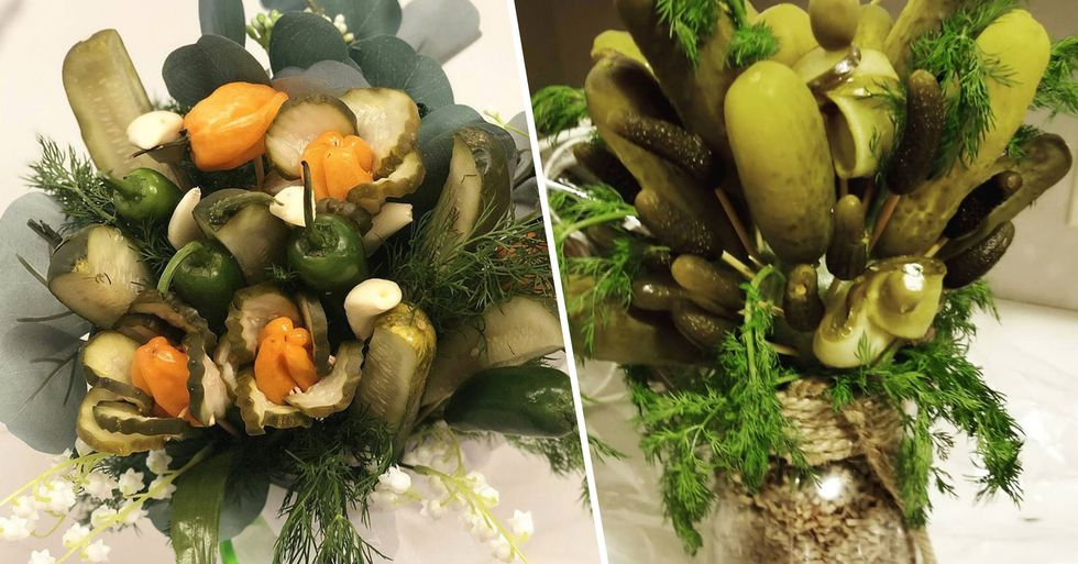 This Pickle Bouquet Is a Delicious Alternative to Flowers for Valentine's Day