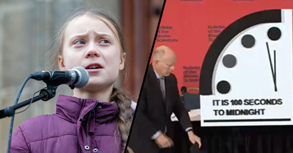 Greta Thunberg Inspires Doomsday Clock to Be Moved 100 Seconds to Midnight
