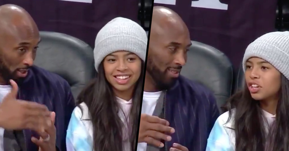 Courtside Camera Caught Special Moment Between Kobe and Gianna Before Their Death