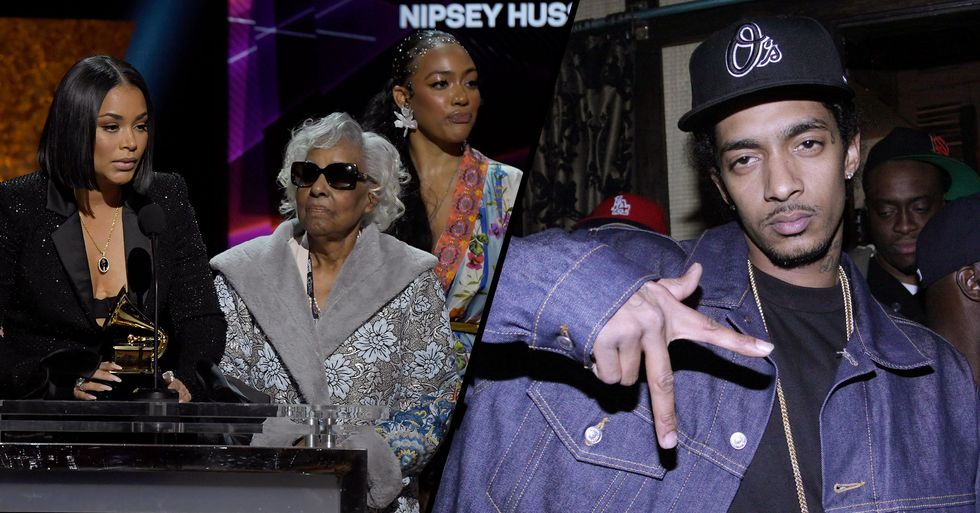 Nipsey Hussle's Family Accepts Posthumous Grammy Award for 'Racks in the Middle'