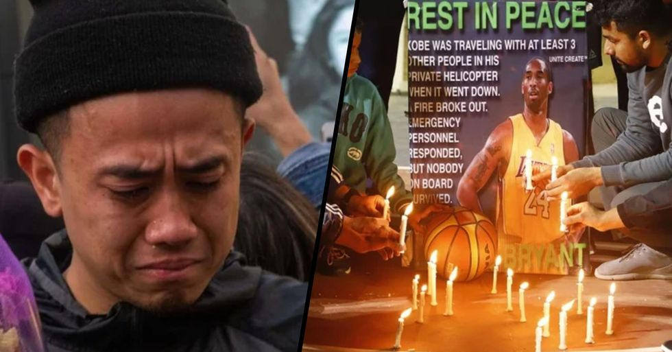 Heartwrenching Pictures Show How People Are Mourning the Death of Kobe Bryant