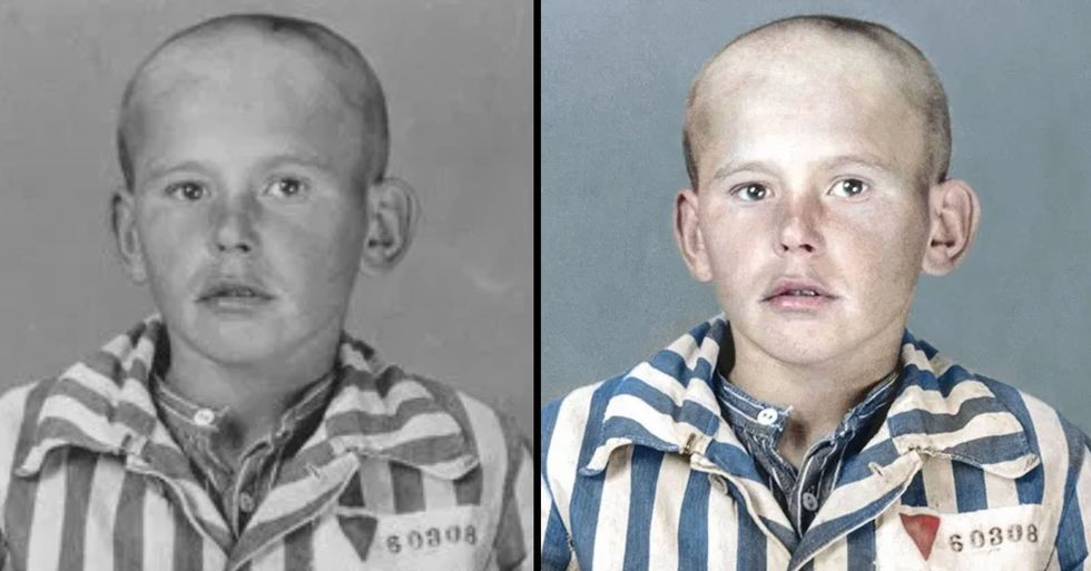 Artist Adds Color to Harrowing Images of Auschwitz Prisoners