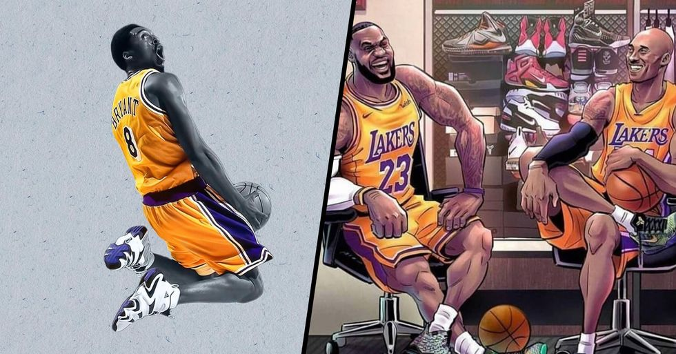 Artists From All Over the World Remember Kobe Bryant in Their Stunning Art