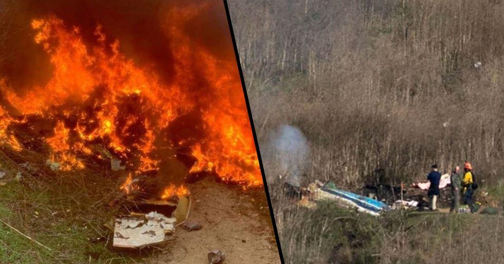 Kobe Bryant Helicopter Crash Site Photos Show Intense Fireball