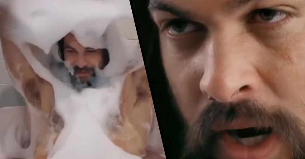Jason Momoa 'Gets Comfortable' in Steamy Super Bowl Commerical