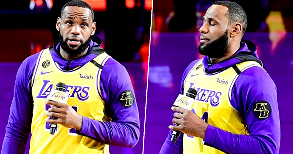 LeBron James Gives Powerful Speech About Kobe Bryant in First Game After Death