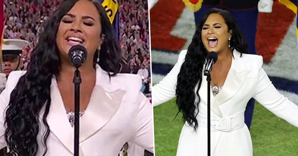 Demi Lovato Praised for 'Flawless' Rendition of National Anthem