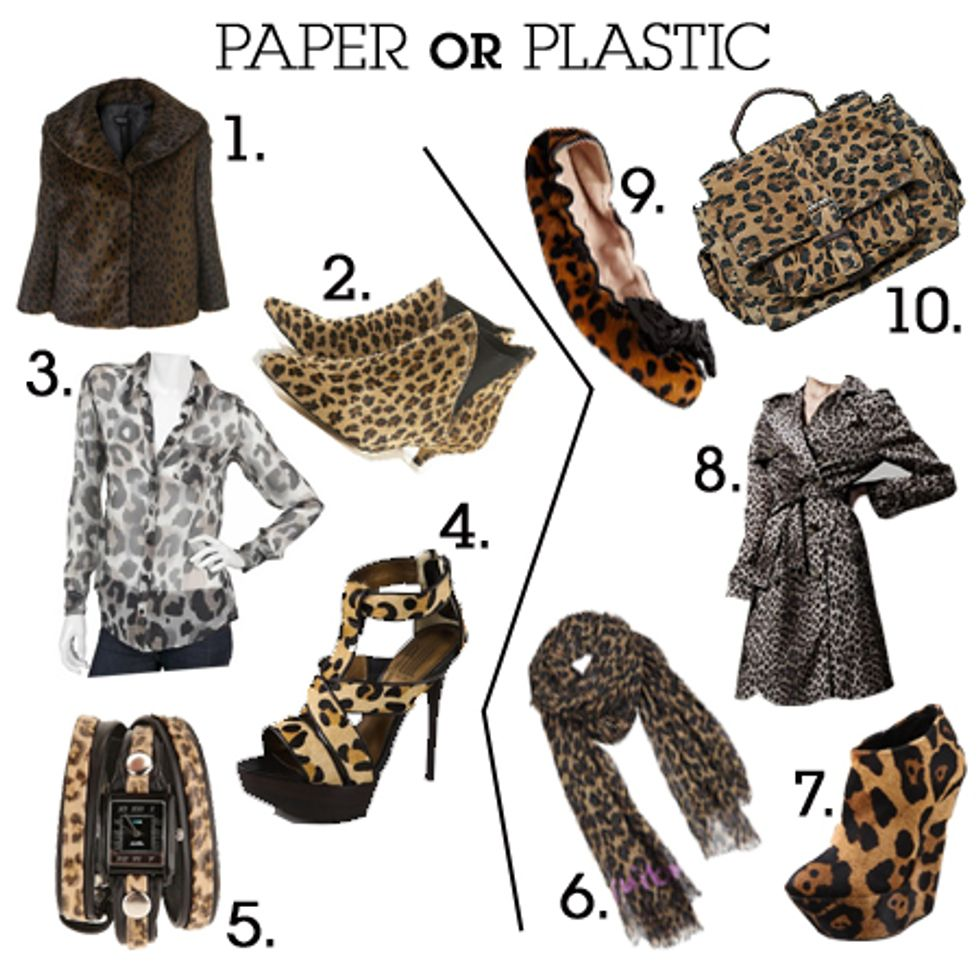 PAPER or Plastic: Leopard, Some Luxe, Some For Less