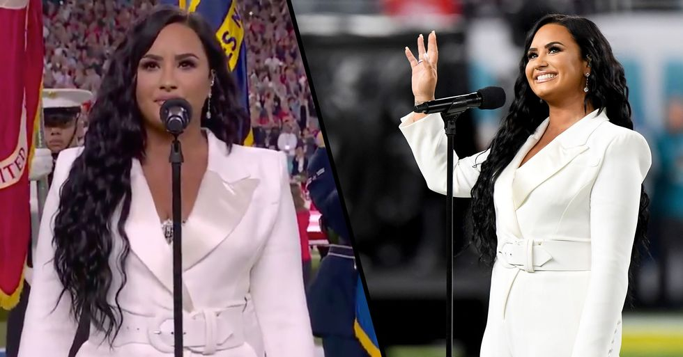 Demi Lovato Tweeted About Singing the National Anthem at the Super Bowl 10 Years Ago