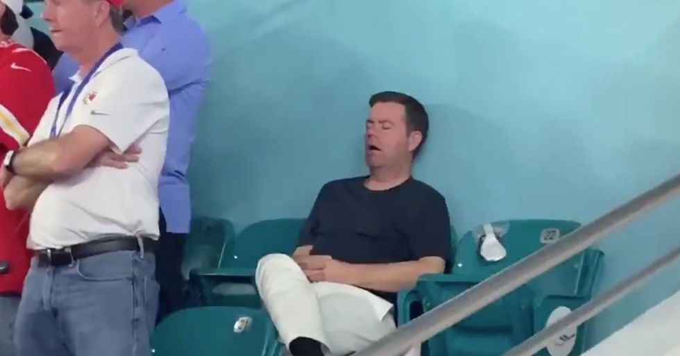 Man Goes Viral After Falling Asleep During the Super Bowl
