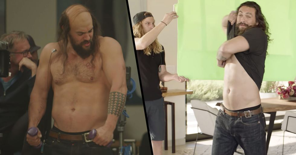 Behind-The-Scenes Footage of Jason Momoa's Freaky Super Bowl Ad Shows How They Made it