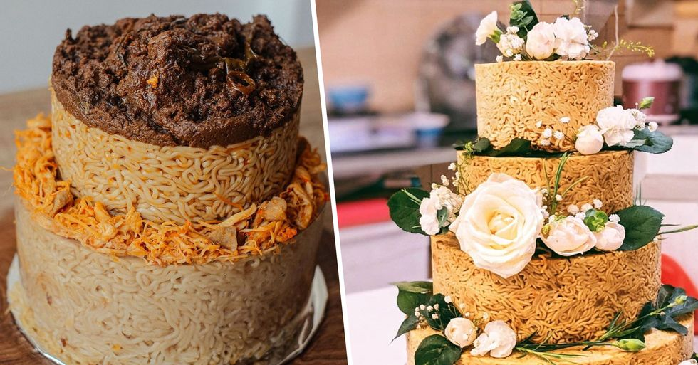 People Are Ordering Instant Noodle Cakes for Their Weddings