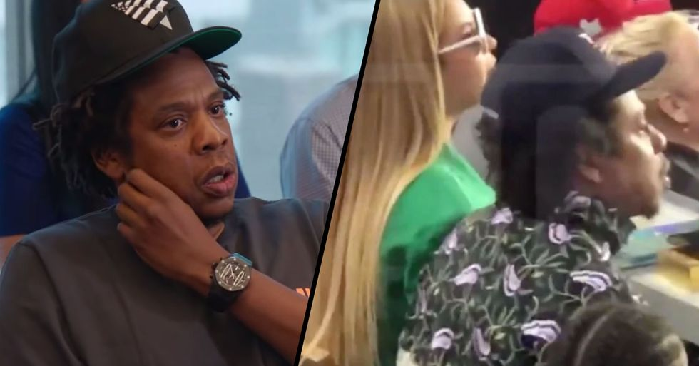 Jay-Z Just Explained Why He and Beyonce Sat Down During the National Anthem at the Super Bowl