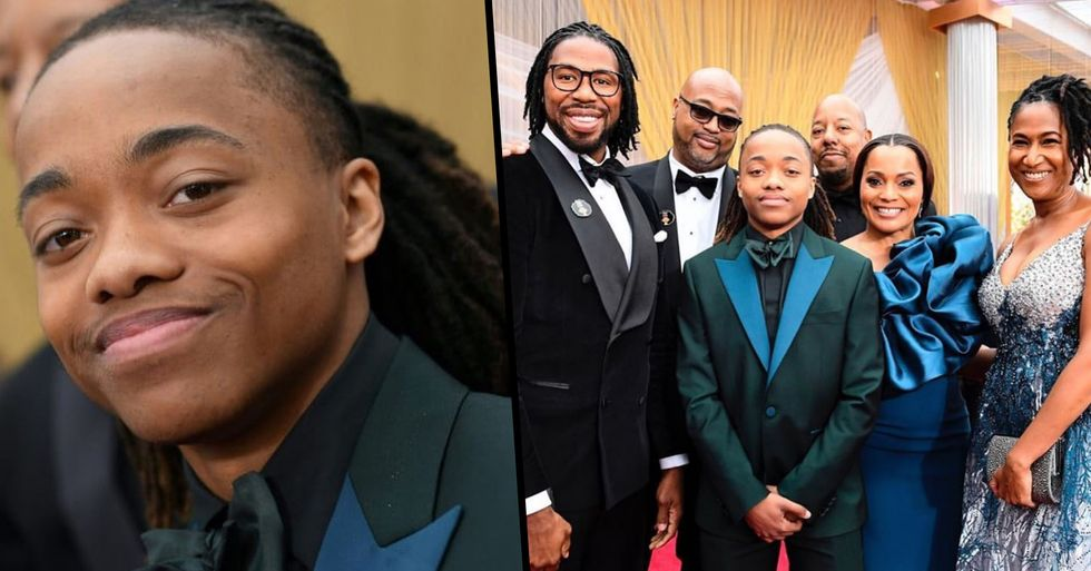 DeAndre Arnold Proudly Wears His Dreadlocks to the Oscars After Being Banned From Graduation
