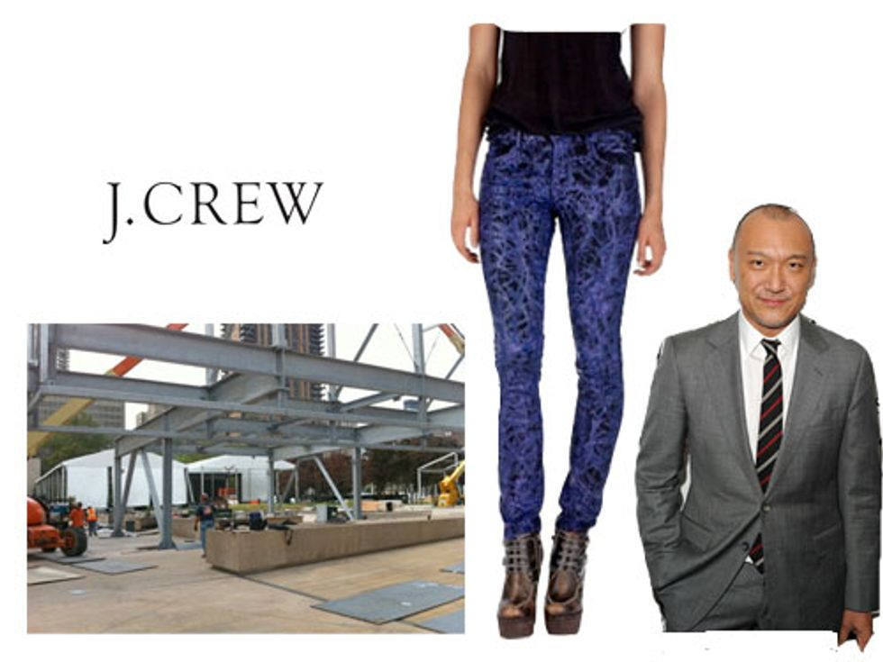 J.Crew's Online Outlet and Fashion Week Sets Up in Today's Style Scraps