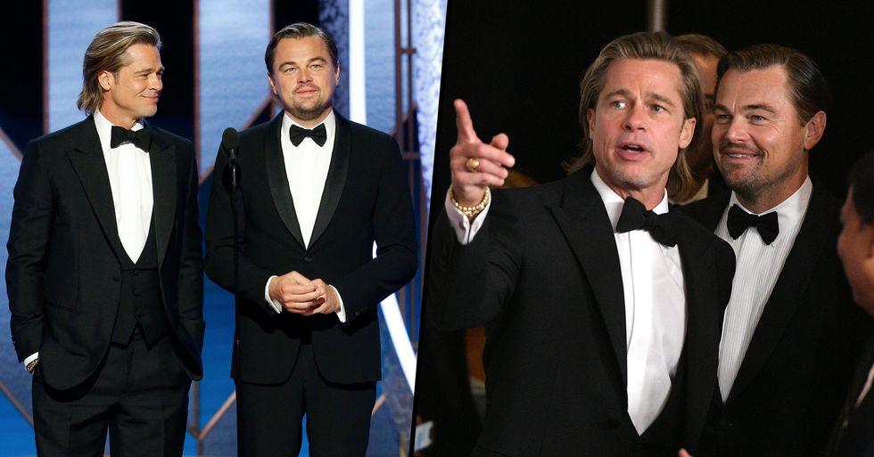 Brad Pitt and Leonardo DiCaprio's Bromance Was the Best Part of Awards Season