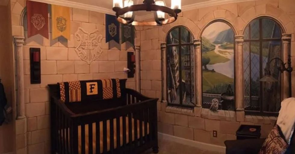 Parents Create Magical 'Harry Potter' Nursery for Their Little Wizard