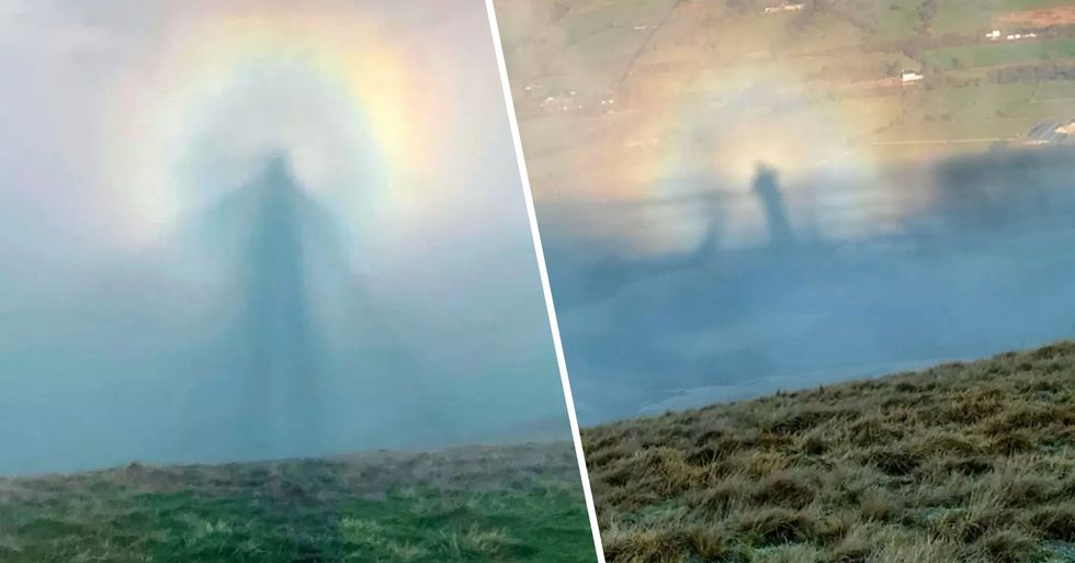 Hiker Stunned When 'Angel in the Clouds' Appeared While He Was out Walking