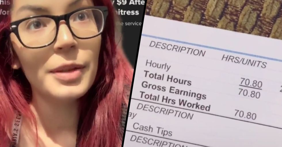 Mom's Paycheck Was Only $9 After Working Over 70 Hours as a Waitress