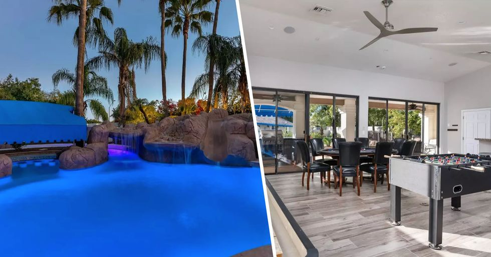 Stunning Airbnb Has Its Own Lazy River and a Swim-Up Bar