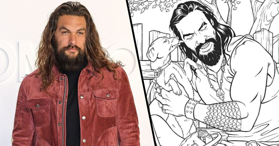 You Can Now Buy A Jason Momoa Coloring Book To Ease Your Stress 22 Words