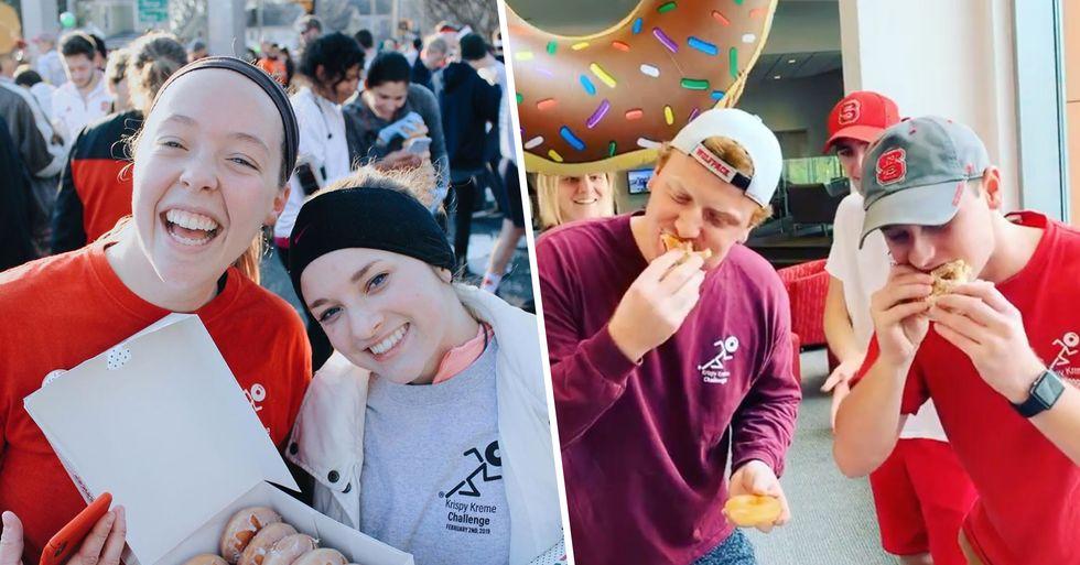 The 'Krispy Kreme Challenge' Involves Eating 12 Doughnuts During a 5-Mile Race