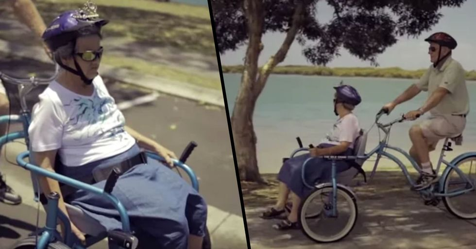 Husband Creates 'Bike Chair' so He Can Take Wife With Alzheimer's out Around the Neighborhood