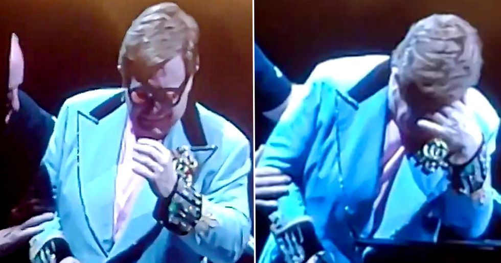 Elton John Bursts Into Tears on Stage After Being Diagnosed With Walking Pneumonia