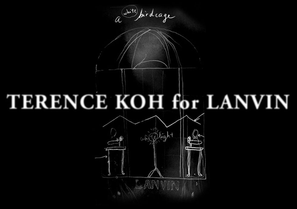 """Terence Koh Will Turn Lanvin into a """"Romantic White Bird Cage"""""""