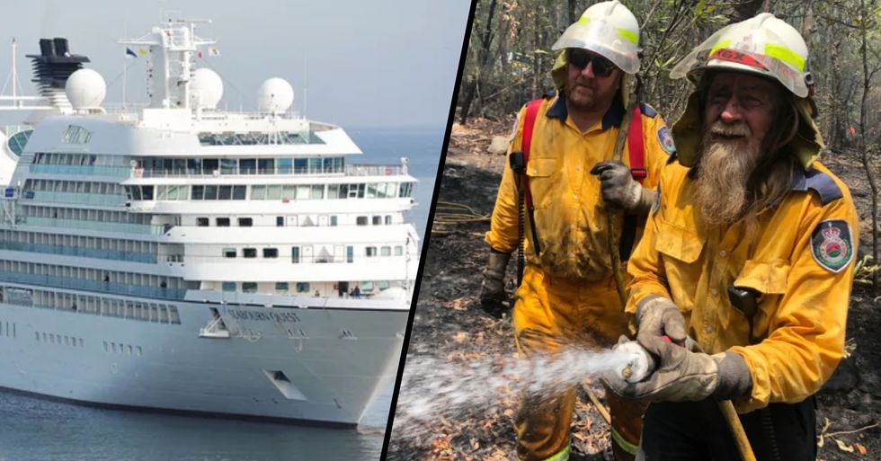 One of the World's Largest Cruise Ships Is Offering Aussie Firefighters a Free Vacation