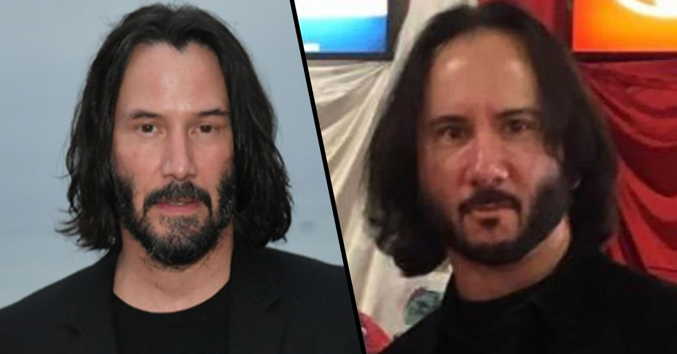 Guy Thought He Was Taking Photos With Keanu Reeves, Turns out He Definitely Wasn't