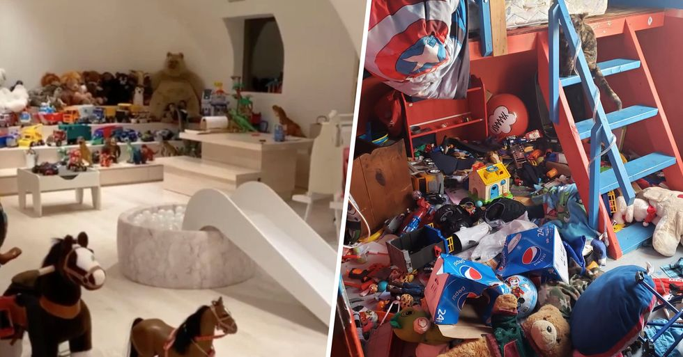Moms Are Sharing Photos of Their Kids' Messy Rooms After Kim K Showed off Immaculate Playroom