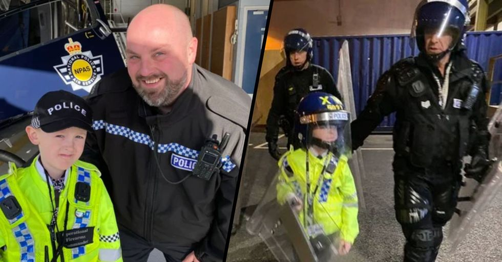 Police Stage Fake Arrest to Make Dream Come True for Boy With Cancer