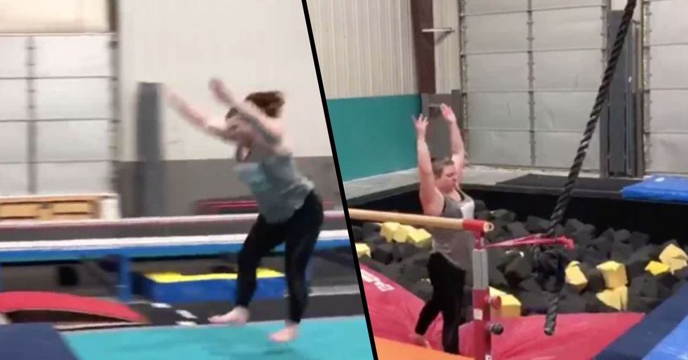 38-Year-Old Mom Goes Viral With Stunt She Was Afraid to Do as a Teen Gymnast
