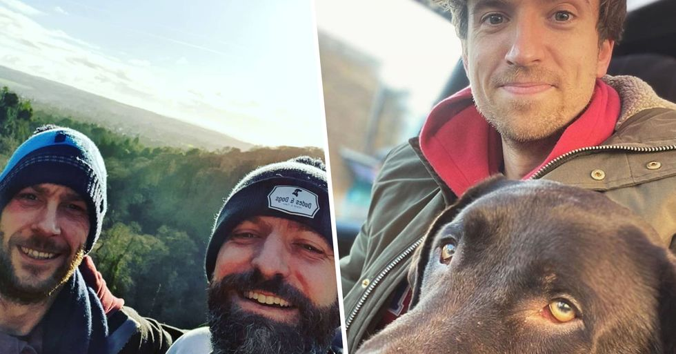 Guy Sets up a Dog-Walking Group for Men Who Need a Friend to Open up To