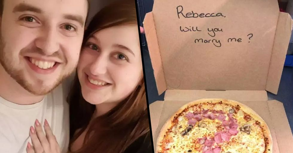 Man Bravely Proposes to Girlfriend With Domino's Hawaiian Pizza