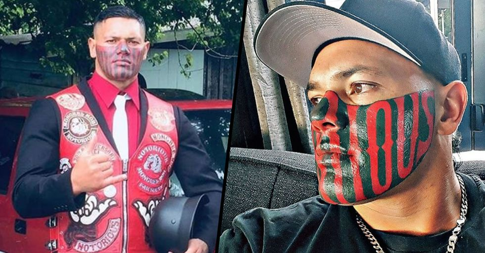 Former Mobster Is Having Trouble Finding a Job Because of His Huge Face Tattoo
