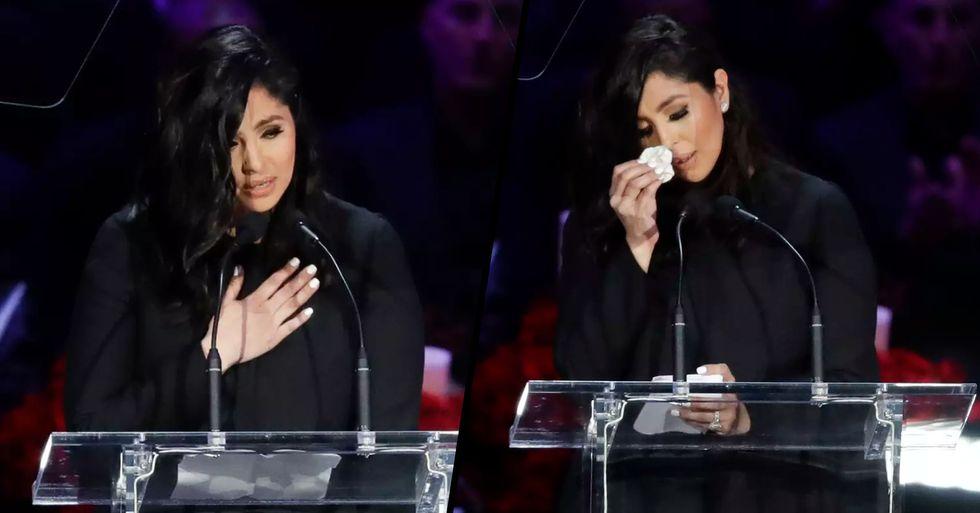 Vanessa Bryant Gives Moving Speech Honoring Husband Kobe and Daughter Gianna at Memorial