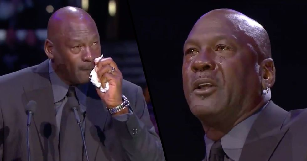 Michael Jordan Tearfully Pays Tribute to 'Little Brother' Kobe Bryant at His Memorial Service