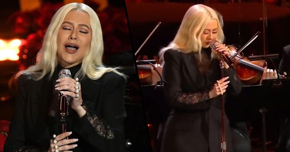 Christina Aguilera Delivers Emotional Performance of 'Ave Maria' at Kobe Bryant's Memorial
