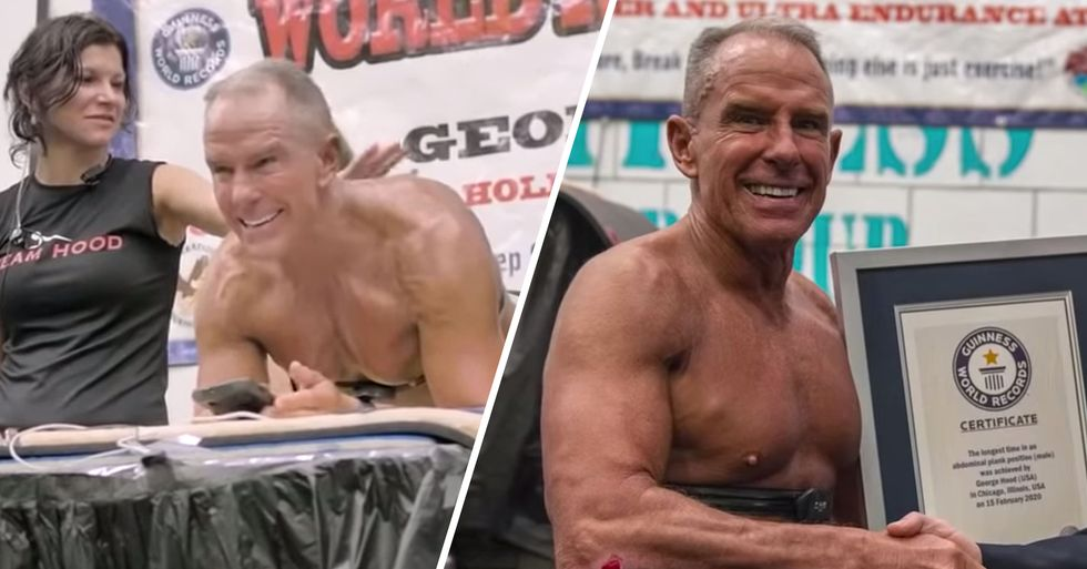 Ex-Marine Aged 62 Beats Guinness World Planking Record