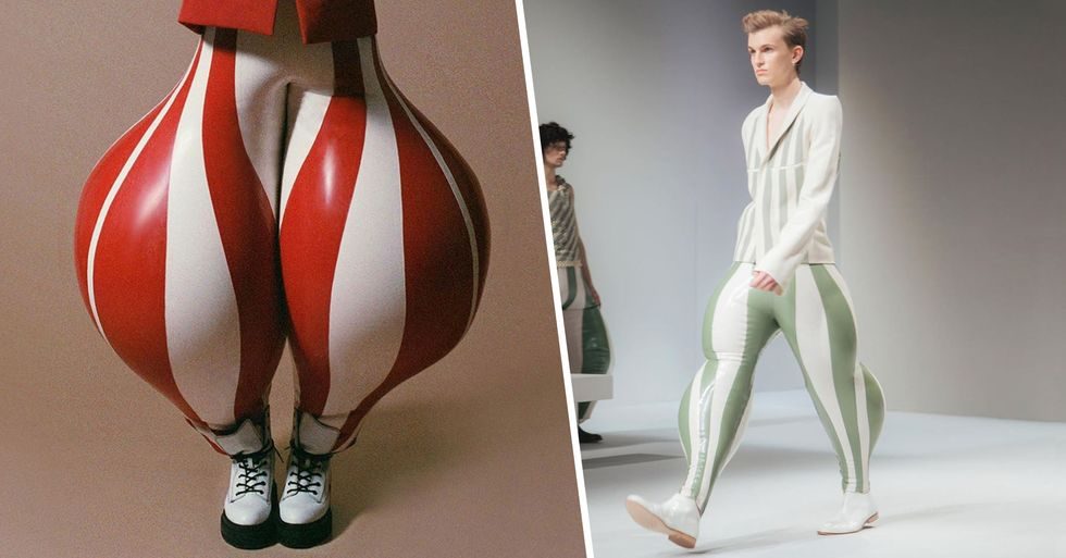 The Internet Is Going Wild for Inflatable Latex Pants
