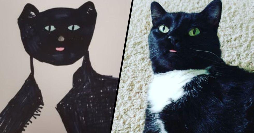Humane Society Draws Incredible Custom Pet Portraits for People Who Donate