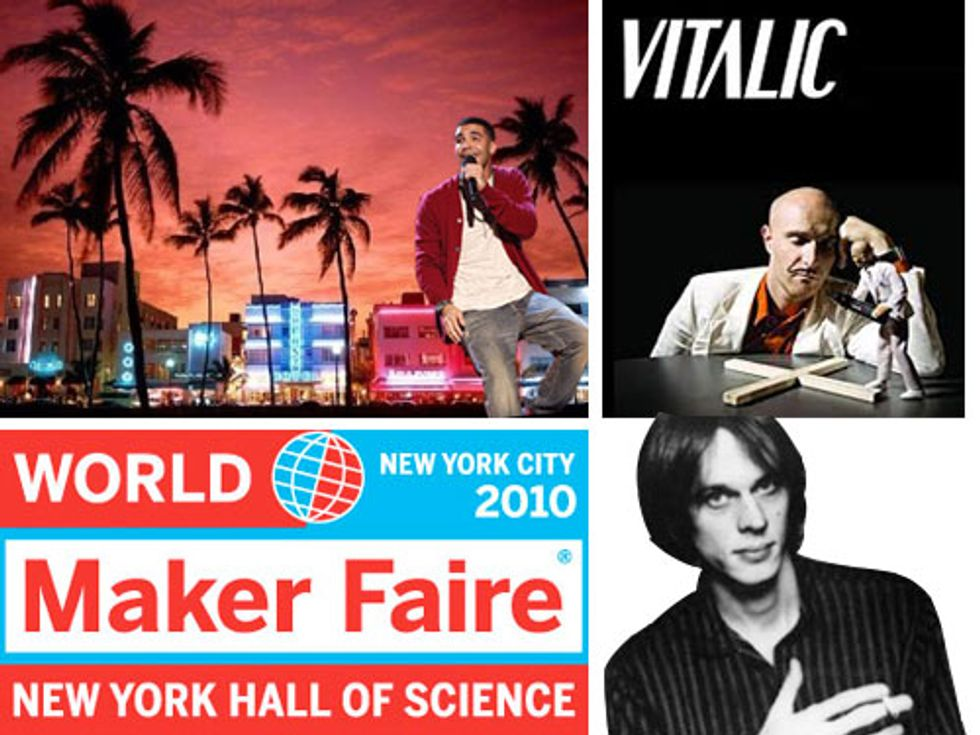 The Maker Faire, Drake in Miami + Tom Verlaine in DUMBO in Today's Eight Items or Less
