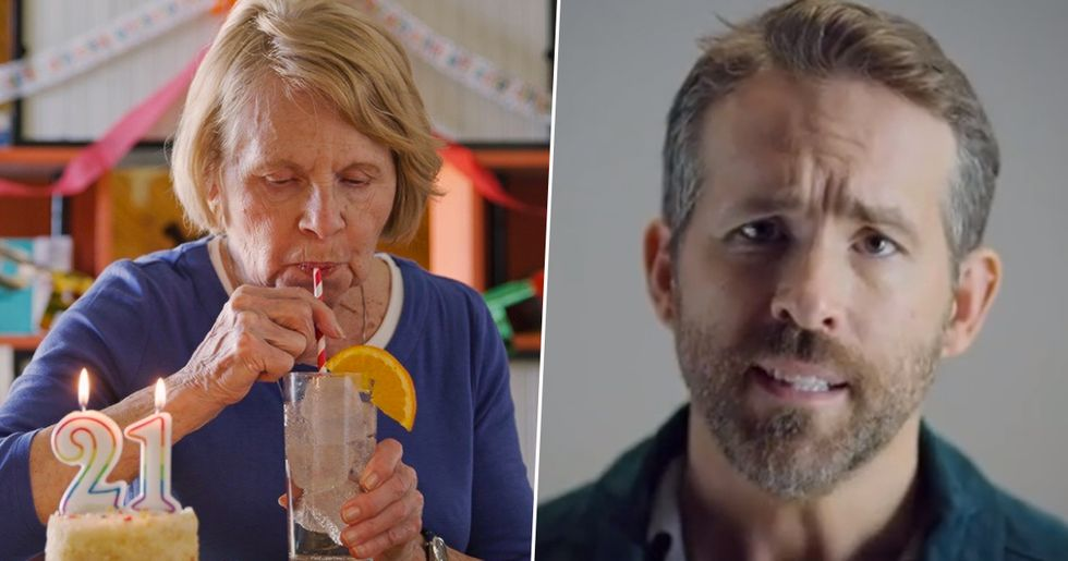 Ryan Reynolds Gives 'World's Oldest 21-Year-Old' First Legal Drink