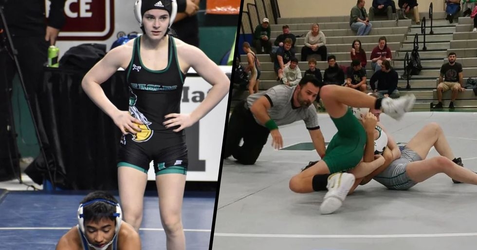 Female Wrestler Makes History After Beating Every Male in Her Divison