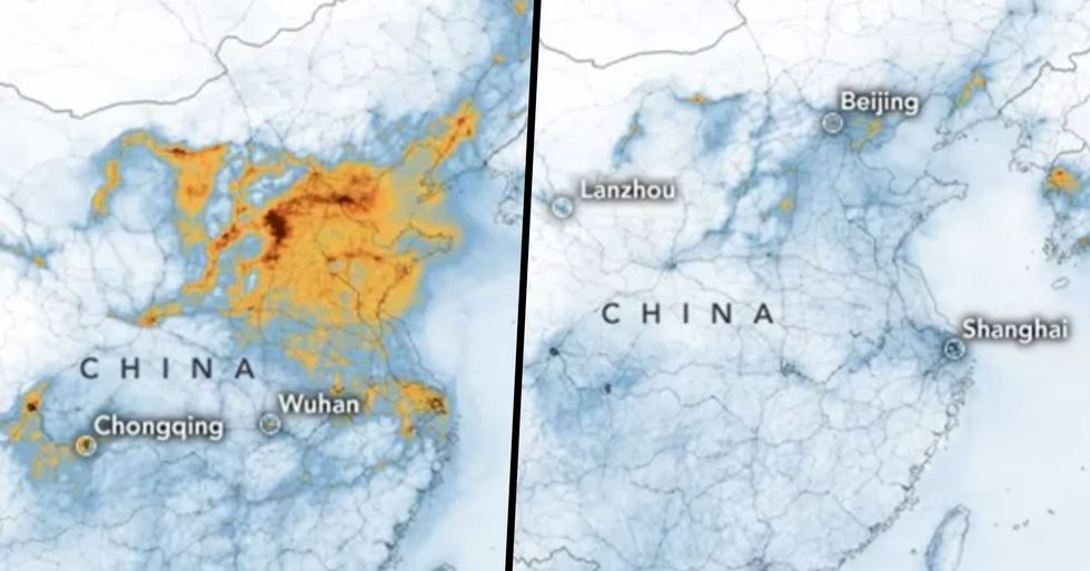 Shocking Images Show How Pollution Has Cleared Over China Since Coronavirus Forced People Indoors