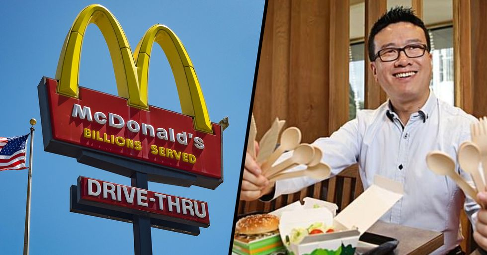 McDonald's Will Axe Plastic Cutlery and Replace It With Wooden Alternatives
